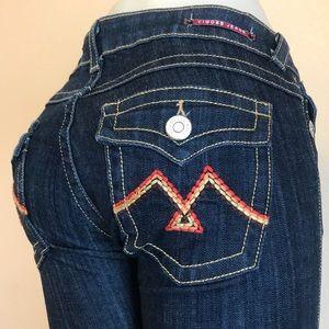 Vigoss women's twisted seam dark blue jeans Sz  7